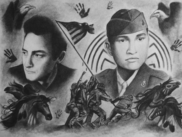 Amber Drawing - The Ballad Of Ira Hayes by Amber Stanford