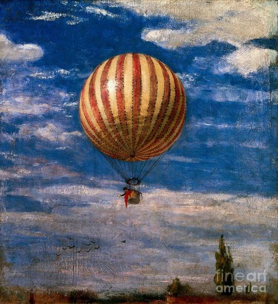 Transport Painting - The Balloon by Pal Szinyei Merse
