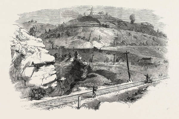 Wall Art - Drawing - The Baltimore And Ohio Railway Boardtree Hill by English School