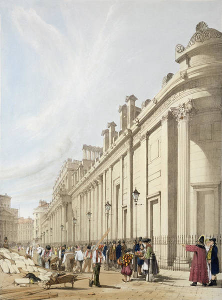 South Drawing - The Bank Of England Looking Towards by Thomas Shotter Boys