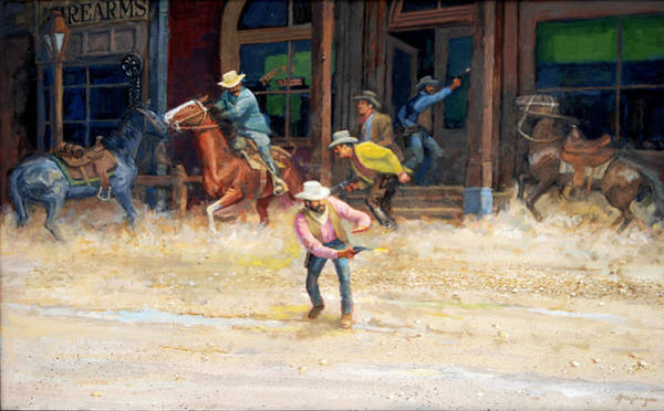 Painting - The Bank Robbery by Mel Greifinger