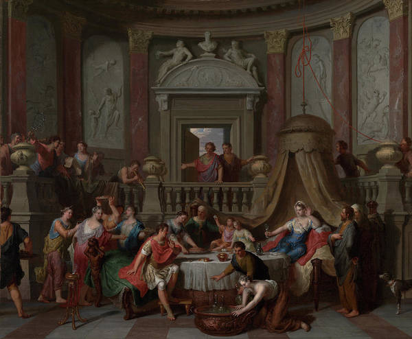 Wall Art - Painting - The Banquet Of Cleopatra Gerard Hoet, Dutch by Litz Collection