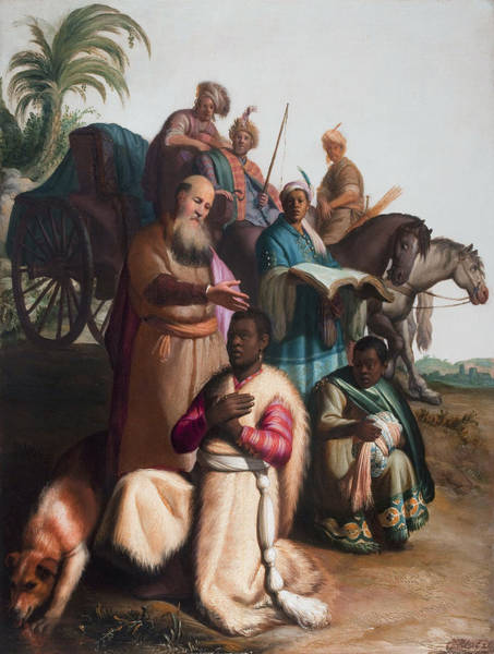 Painting - The Baptism Of The Eunuch by Celestial Images