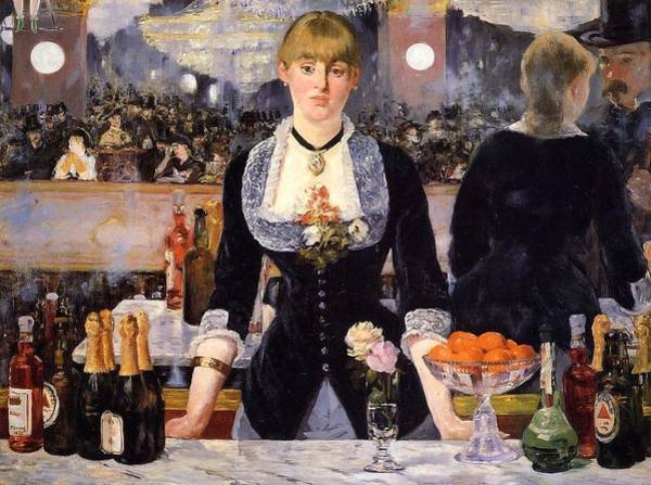 Wall Art - Painting - The Bar At The Folies-bergere by Edouard Manet