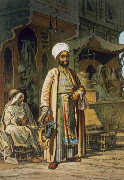 Arabian Drawing - The Barber by Amadeo Preziosi