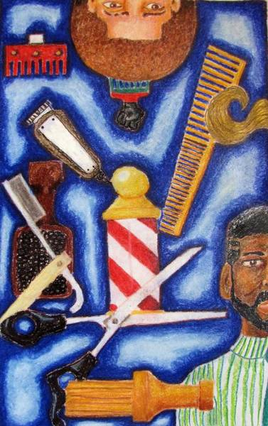 Wall Art - Drawing - The Barber by William Bryant