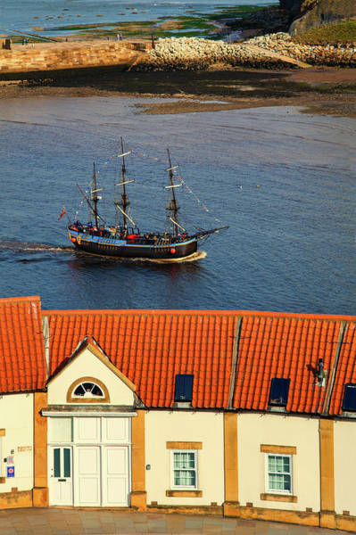 Endeavour Photograph - The Bark Endeavour A Replica Sailing by Panoramic Images