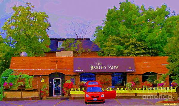 Painting - The Barley Mow Pub Urban Eatery Old Ottawa The Glebe British Irish Restaurant Ottawa Scenes Cspandau by Carole Spandau