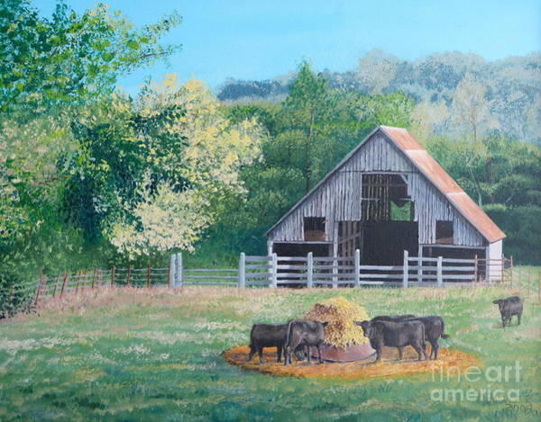 Painting - The Barn by Alicia Fowler