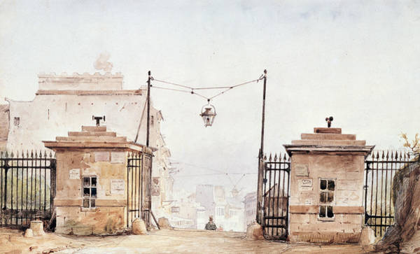 Gateway Painting - The Barriere De Menilmontant by Pierre Luc Charles Ciceri