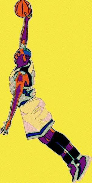 Wall Art - Painting - The Basketball Player by Florian Rodarte