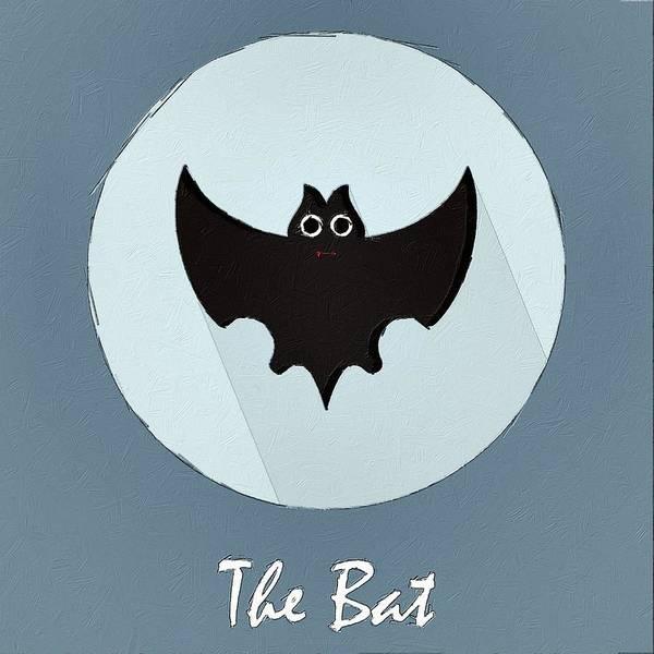 Wall Art - Painting - The Bat Cute Portrait by Florian Rodarte