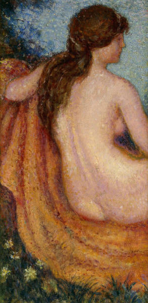 Bare Bottom Painting - The Bather by Georges Lemmen