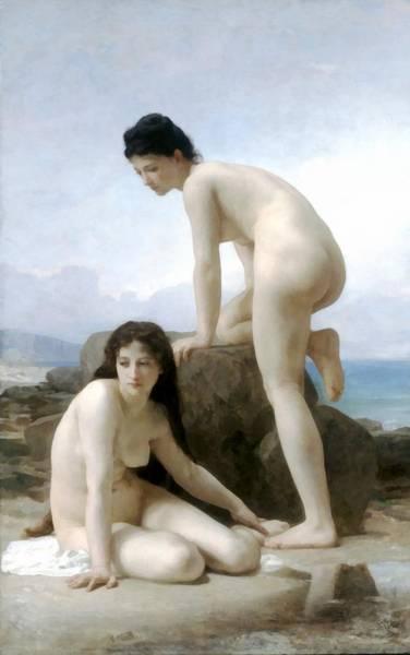Digital Art - The Bathers by William Bouguereau