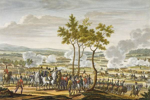 Soldier Drawing - The Battle Of Abensberg, 20 April 1809 by Jacques Francois Joseph Swebach