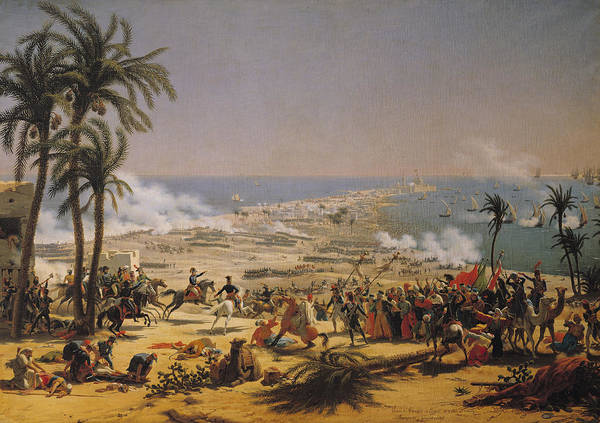 Siege Photograph - The Battle Of Aboukir, 25th July 1799 Oil On Canvas by Louis Lejeune
