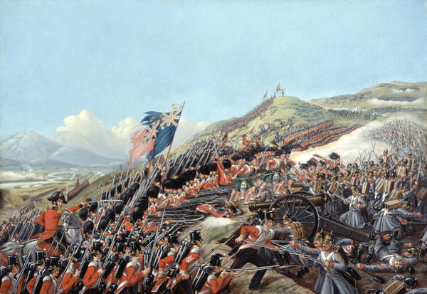 The Clash Wall Art - Painting - The Battle Of Alma On 20th September by Edmund Walker