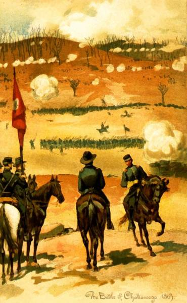 Wall Art - Digital Art - The Battle Of Chattanooga  by Unknown