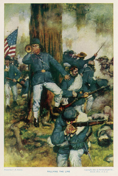 Bugling Drawing - The Battle Of Chickamauga by Mary Evans Picture Library