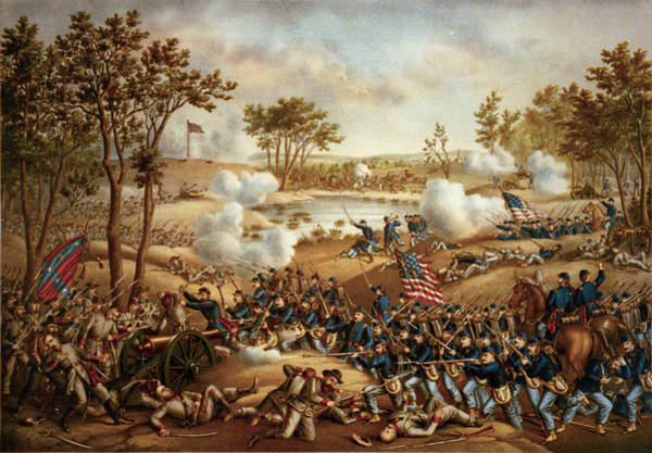 Wall Art - Digital Art - The Battle Of Cold Harbor by Kurz and Allison