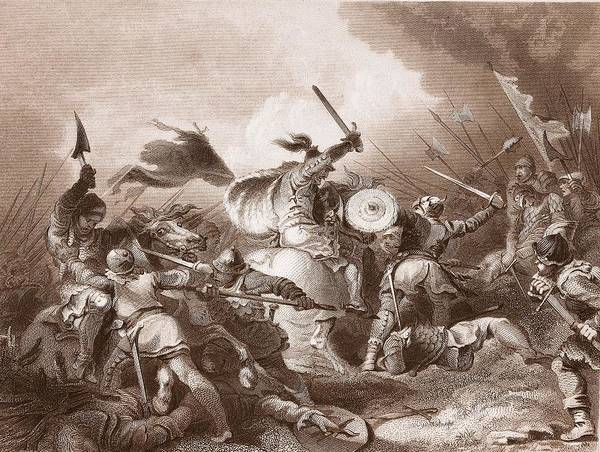 Norman Photograph - The Battle Of Hastings, Engraved by Philippe de Loutherbourg