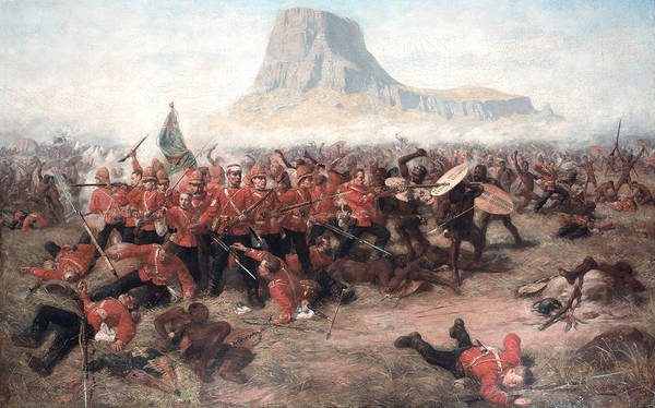 Wall Art - Painting - The Battle Of Isandlwana The Last Stand by Charles Edwin Fripp