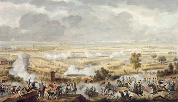 Austrian Drawing - The Battle Of Marengo, 23 Prairial by Antoine Charles Horace Vernet