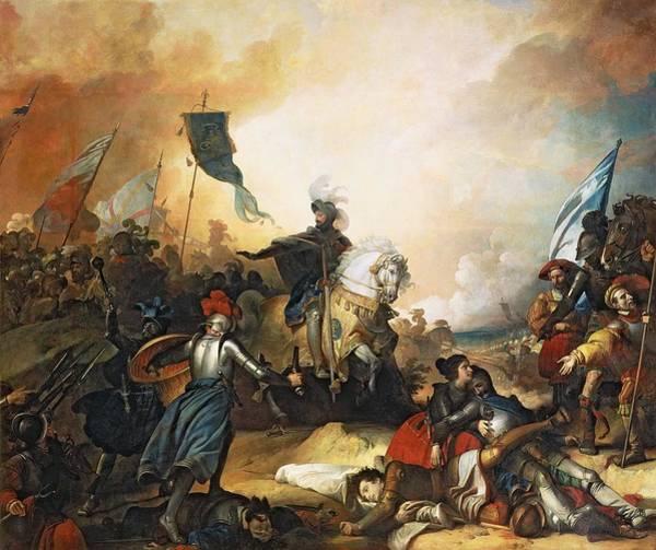 Northern Italy Photograph - The Battle Of Marignan, 14th September 1515, 1836 Oil On Canvas by Alexandre Evariste Fragonard