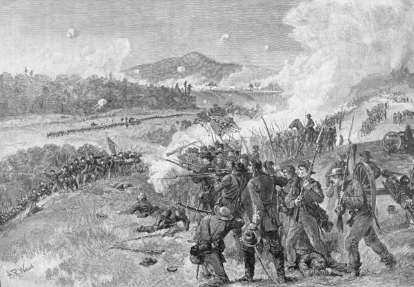 Union Soldier Photograph - The Battle Of Resaca, Georgia, May 14th 1864, Illustration From Battles And Leaders Of The Civil by Alfred R. Waud