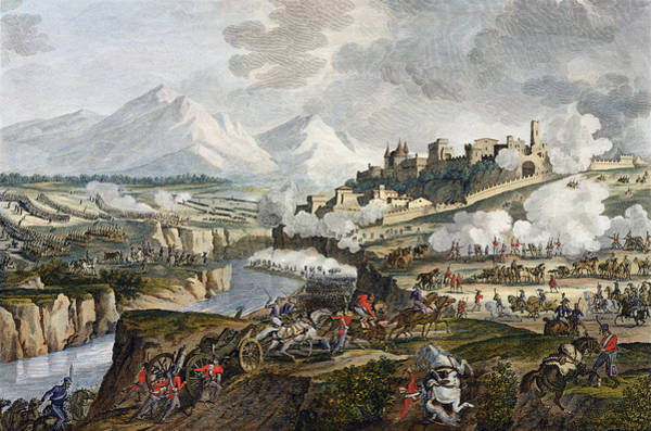 Italy Drawing - The Battle Of Roveredo, 18 Fructidor by Antoine Charles Horace Vernet