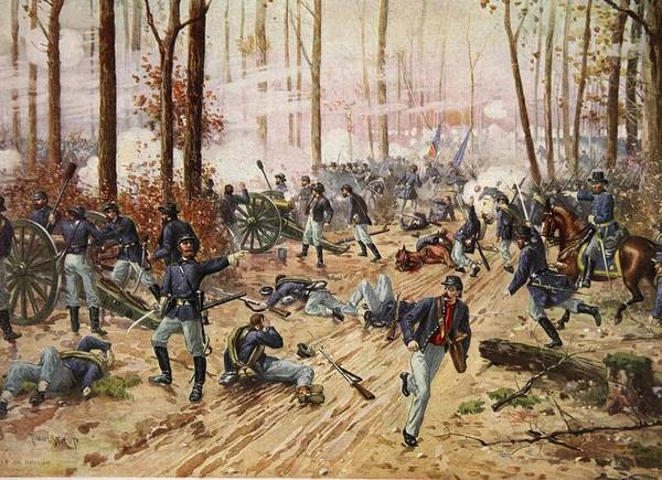 Soldier Drawing - The Battle Of Shiloh April 6th-7th 1862 by Henry Alexander Ogden