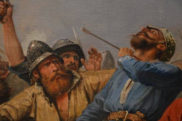 Stamford Bridge Wall Art - Painting - The Battle Of Stamford Bridge by Peter Nicolai Arbo