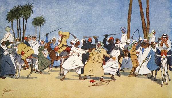 Palm Trees Drawing - The Battle Of The Nile, From The Light by Lance Thackeray