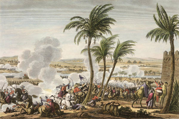 Palm Trees Drawing - The Battle Of The Pyramids, 3 by Jacques Francois Joseph Swebach