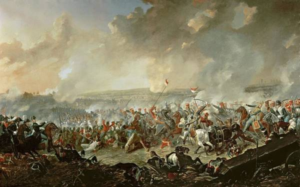 Napoleon Photograph - The Battle Of Waterloo, 18th June 1815 Oil On Canvas by Denis Dighton