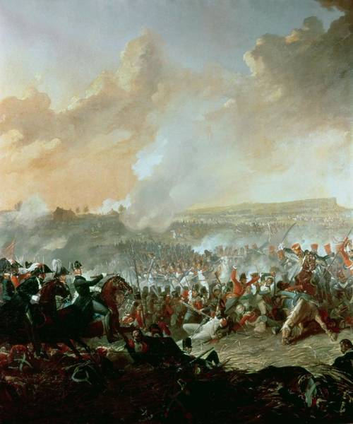 Napoleon Photograph - The Battle Of Waterloo, 18th June 1815 Oil On Canvas Detail Of 209202 by Denis Dighton