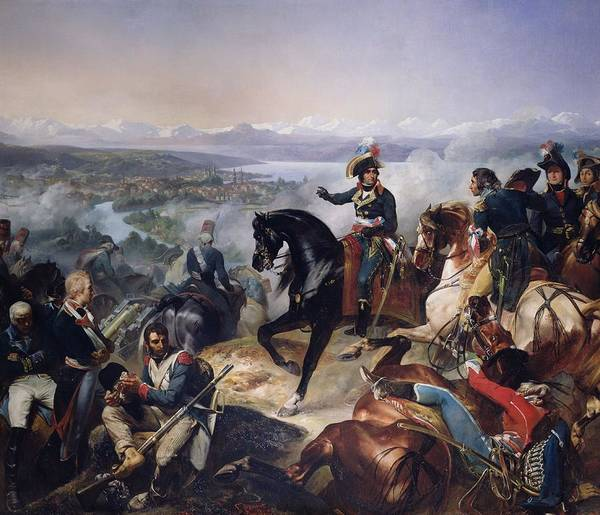 Napoleon Photograph - The Battle Of Zurich, 25th September 1799, 1837 Oil On Canvas by Francois Bouchot