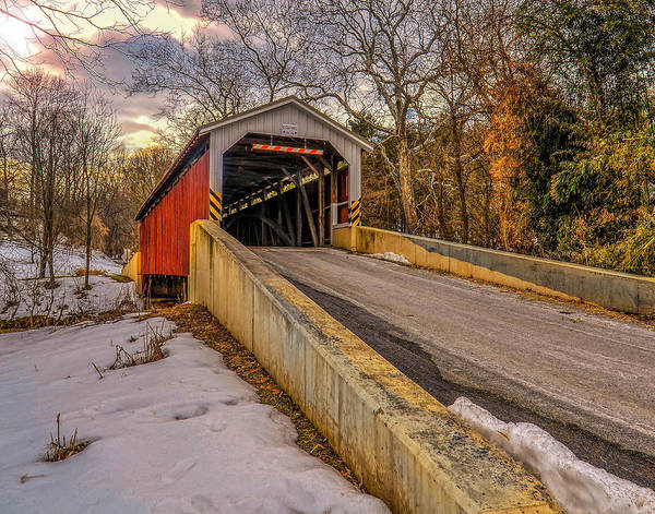 Wall Art - Photograph - The Baumgardener's Covered Bridge by Dave Sandt