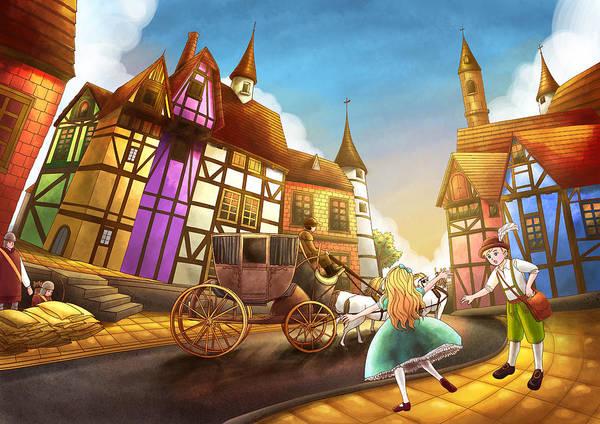 The Bavarian Village Art Print
