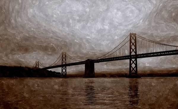 Painting - The Bay Bridge Of San Francisco by Florian Rodarte