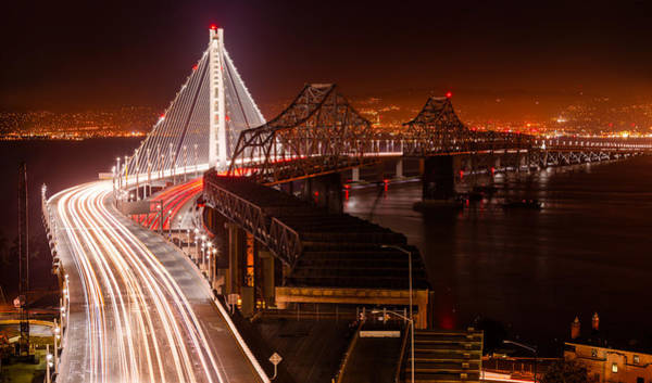 Photograph - The Bay Bridges by Alexis Birkill