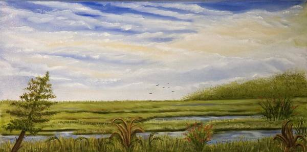 Cape May Painting - The Bay Side Of The Shore by Susan Culver