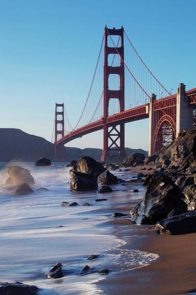 Surf City Usa Photograph - The Beach And The Golden Gate by By Chakarin Wattanamongkol