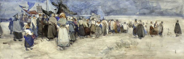 Groups Of People Painting - The Beach Berck Sur Mer by Patty Townsend Johnson