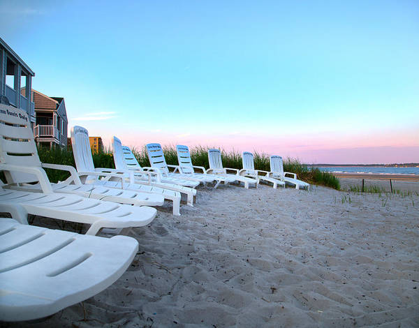 Orchard Beach Photograph - The Beach Chairs by Betsy Knapp