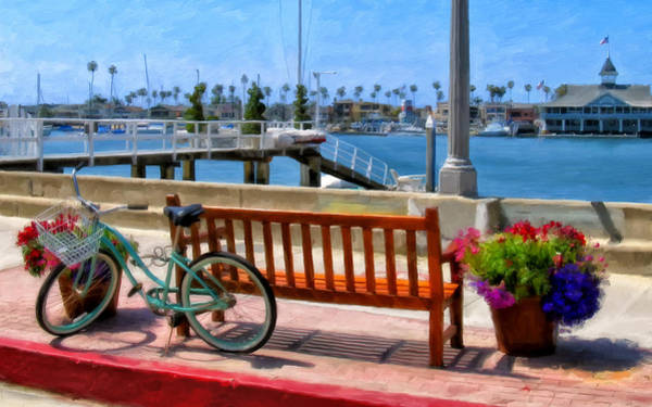 Newport Wall Art - Painting - The Beach Cruiser by Michael Pickett