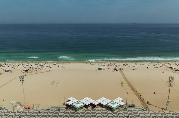 Rio De Janeiro Photograph - The Beach Of Copacabana.rio De Janeiro by Buena Vista Images
