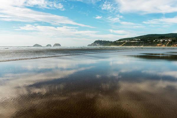 Wall Art - Photograph - The Beach Reflects Near Netarts Bay by Robert L. Potts