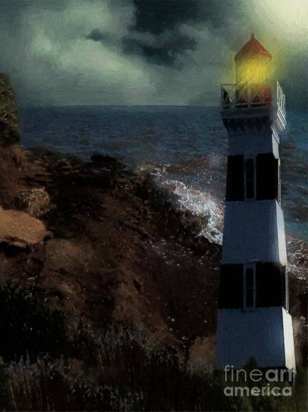 Painting - The Beacon by RC DeWinter