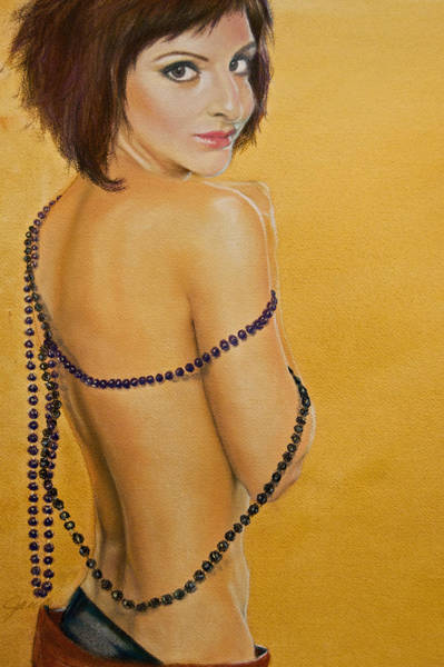 Painting - The Beaded Shawl by Jani Freimann